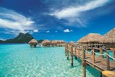I really wanted to go to Tahiti for my honeymoon...its costs a fortune to stay in the huts over the water...someday!