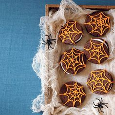 Chocolate Spiderweb Sandwich Cookies