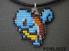 Squirtle Necklace Video Game Jewelry Nintendo Pokemon by Pixelosis