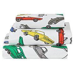 Organic Traffic Jam Toddler Sheet Set