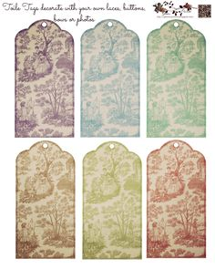 Free Toile Tags