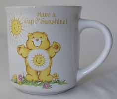 Care Bears, Mug, cup, American Greetings Designers Collection 1983 Stoneware