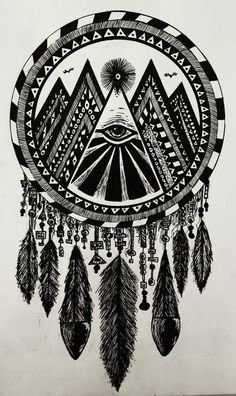 Hands down the best dream catcher design ever. If you're inking one, ink it like this.