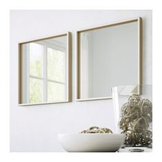 For entryway  IKEA - SKOGSVÅG, Mirror, , Safety film  reduces damage if glass is broken.Can be used in high humidity areas.