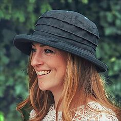 Smart Black Women's Sunhat, Cool & Stylish Pleated Linen Hat with Shady Brim, Crushable and Packable Lightweight Travel Hat, Washable Too! British Hats, Travel Hat, Rain Hat, Summer Hats, Hat Making, Hat Sizes, Natural Linen, Sun Hats, Face Shapes