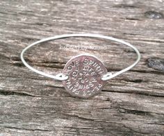 Affirmation Bangle Bracelet - $14.99 - Handmade Jewelry, Crafts and Unique Gifts by Inspired by Karma