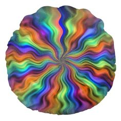 Mystic Vibrations Round Throw Pillow