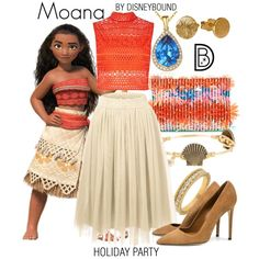 DisneyBound is meant to be inspiration for you to pull together your own outfits which work for your body and wallet whether from your closet or local mall. As to Disney artwork/properties: ©Disney Moana Outfits, Disneybound Outfits, Disney Character Outfits, Disney Themed Outfits, Character Inspired Outfits, Disney Dresses, Disney Cosplay, Moana Cosplay, Disney Mode