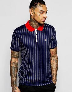 Fila+Vintage+Polo+Shirt+In+Pinstripe