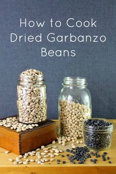 How to Cook Dried Garbanzo Beans- With a Recipe for Hummus as a Bonus!!