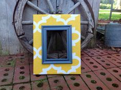 Picture Frame Fabric Covered for 8x10 photo Wood by TheRedWoodBarn, $65.00