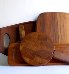 Dansk Teak Round Tray Made in Denmark, MidCenturyFLA,