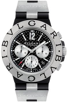 CARBON FIBER: Bulgari Diagono with carbon fiber dial.  Approximately $3,750!