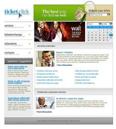 Tickets Online Website Templates by Maxwell