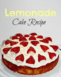 Lemonade naked cake with strawberries recipe.