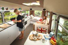 Bedford Bus conversion into an RV - Brilliant design! -  To connect with us, and our community of people from Australia and around the world, learning how to live large in small places, visit us at www.Facebook.com/TinyHousesAustralia or at www.TinyHousesAustralia.com