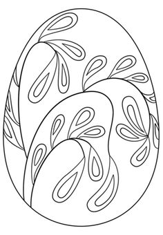 Easter Egg with Floral Pattern coloring page from Easter eggs category. Select from 24652 printable crafts of cartoons, nature, animals, Bible and many more.