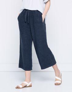 PullAndBear - culotte jeans - blue - 05684318-V2016