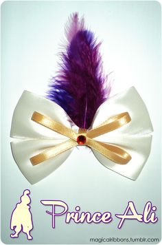Bows inspired by disney characters :) this is the best site I have ever seen amazing must pin!