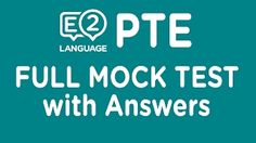 PTE Academic: Full Mock Test with Answers! - YouTube
