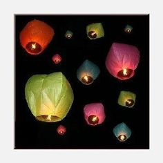 flying paper lanterns- I AM GOING TO DO THIS!!! TANGLED!!! :)