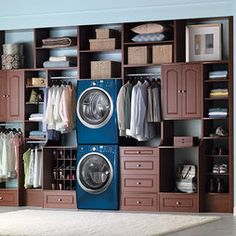 Laundry In Master Closet Design, Pictures, Remodel, Decor and Ideas