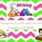 This is a year of Writing Prompts.  I use these throughout the year for morning work journal writing!  It includes 10-15 large, colorful writing pr...