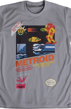 Cartridge Metroid T-Shirt: Nintendo Mens T-Shirt
