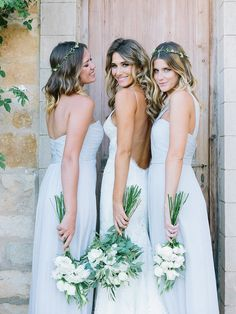 Photography: Luna de Mare  - lunademarephotography.com Bridesmaids' Dresses: Amsale - http://amsale.com Wedding Dress: Katie May Collection - http://www.katiemay.com   Read More on SMP: http://stylemepretty.com/vault/gallery/38301
