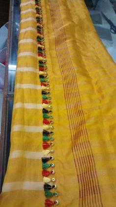 Saree kuchu 2 Saree Tassels Designs, Saree Kuchu Designs, Stylish Blouse Design, Fancy Blouse Designs, Indian Party Hairstyles, Half Saree Function, Silk Thread Bangles Design, Wedding Dress Patterns, Traditional Fashion