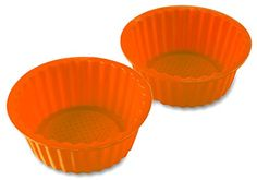 2 Pack 6 Orange Color Silicone Baking Pan Ideal For Cake Muffin Cupcake Brownie And Cornbread Mold Pan NonStick Surface And Heat Resistant  By Kitch N Wares * Check out this great product.