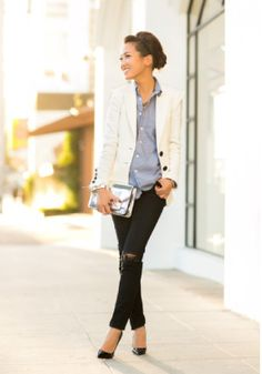 White hot blazers + those favorite skinnies!