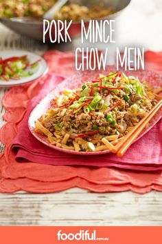 A Chinese takeaway favourite, pork mince with lemon hoisin sauce, Chinese cabbage, and crunchy noodles, will become a family fave. It only takes 20 minutes to make and serves 4.