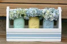 safeway hydrangeas | Once the paint was dry, I took more 220 grit sandpaper and distressed ...
