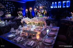 Bar Mitzvah Decorations, Table Decorations, Table Settings, Furniture, Home Decor, Decoration Home, Room Decor, Place Settings, Home Furnishings