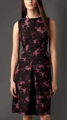 Burberry London Sculptural Silk Dress