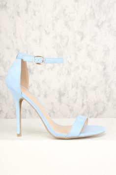 1c5fe74e96c Buy Sexy Light Blue Open Toe Single Sole High Heels Faux Suede with cheap  price and
