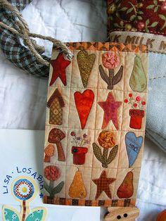 patchwork pottery bag