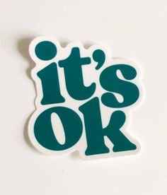 Just A Reminder, It's Ok Just A Reminder, Teal Colors, Its Ok, Dark Teal, Beach Photos, Something To Do, Stickers, Feelings, Water Bottles