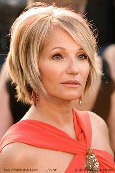 @Patricia Smith K. Mayland - what about this?  Cute! Ellen Barkin , layered choppy bob, long bang