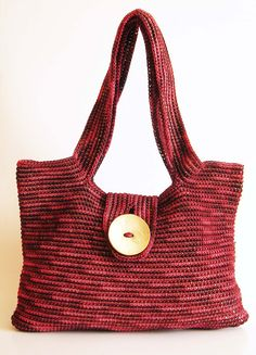 Patrón para bolso asa larga tapestry crochet. Tejida en por ChabeGS, $3.50