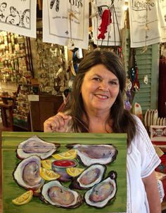 """I call this one """"Oysters on a Baseboard."""" It SOLD today!"""