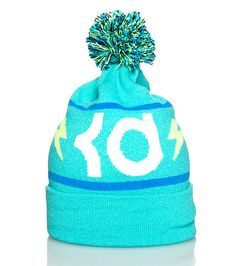0246b550d8d248 NIKE Kevin Durant Logo winter beanie Pom Pom detail on top kd lightning  bolt logo Foll up brim Soft