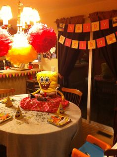 A Girly Spongebob Birthday Party.