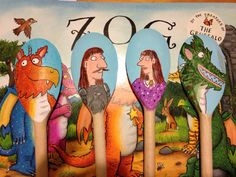 Zog wooden spoon puppets, to retell the story. Made for my KS1 EYFS after school book club.