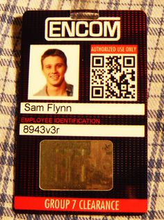 Tron id Card Sam Flynn ENCOM cosplay badge costume by MovieProps, $9.98