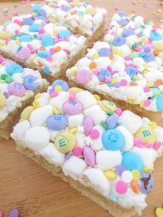 Marshmallow M&M Sugar Cookie Bars