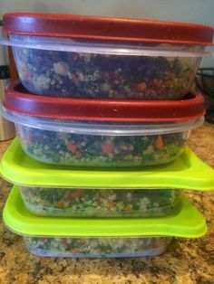 21 Day Fix Recipe: Superfood Salad  lunches for the week - done!