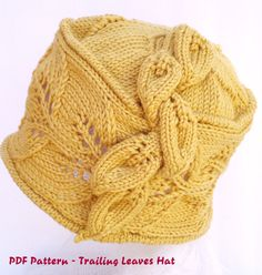 PDF Knit Hat Pattern - fuite laisse Hat / cloche