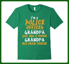 Mens i'm a Police Officer grandpa but much cooler Funny Love Shir Large Kelly Green - Relatives and family shirts (*Amazon Partner-Link)
